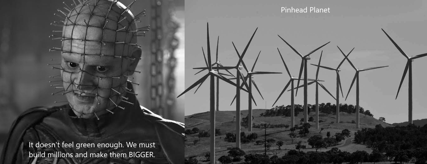 cenobites pinhead planet of wind turbines
